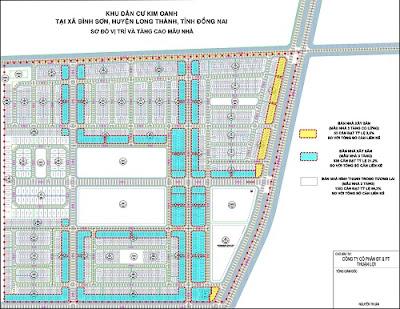 Sơ đồ phân lô dự án Century City Long Thành Đồng Nai