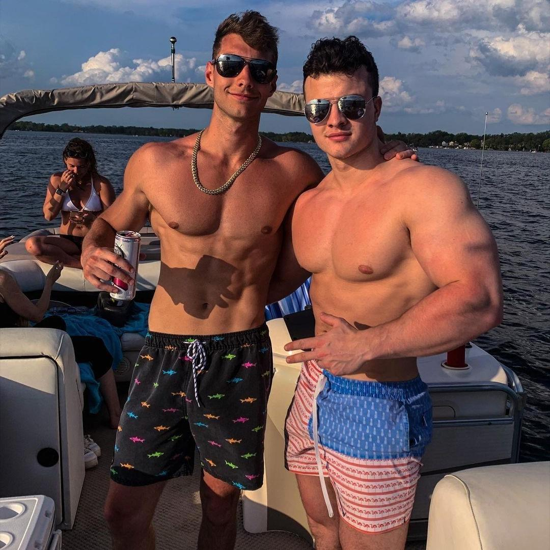 two-shirtless-fit-beefy-bros-boat-party-zack-jennings-pictures