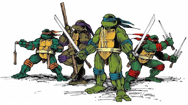 retro ninja turtles wallpaper