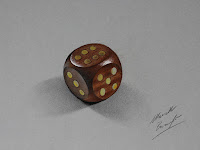 Amazing 3D illusion drawing WOODEN DICE