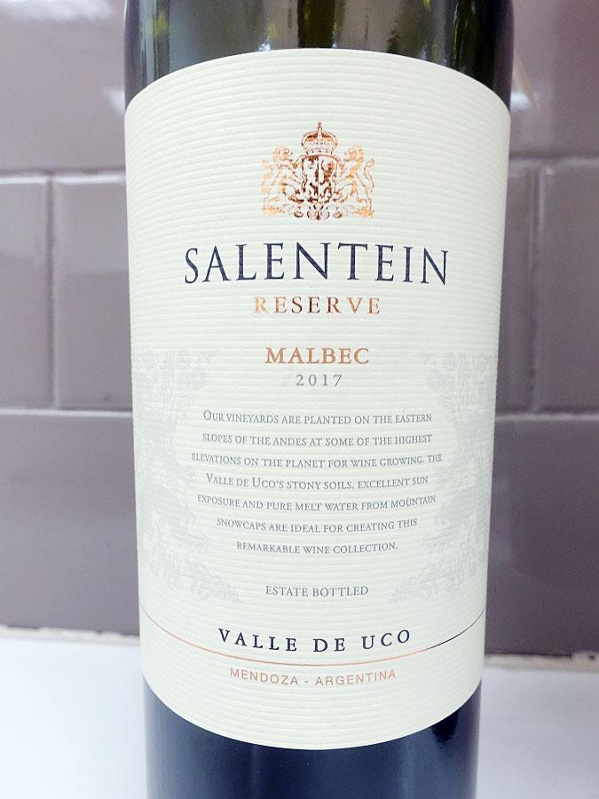Salentein Reserve Malbec 2017 (89 pts)