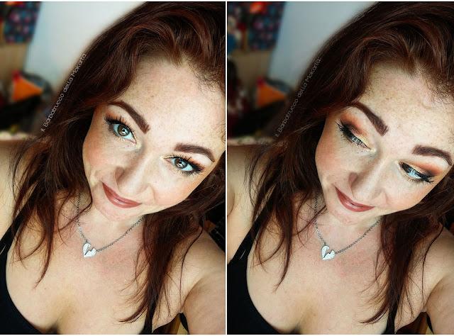 miss trucco eyeshadow palette ombretti terra e acqua mix perfetto viola bronzo makeup oro