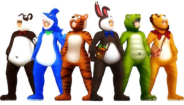 Doll Costumes - Panda Doll, Shark Doll, Tiger Doll, Rabbit Doll, Dinosaur Doll, Lion Doll