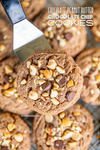 chocolate cookie on a spatula
