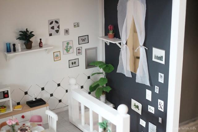 Puppenhaus renovieren DIY vorher nachher Treppenhaus
