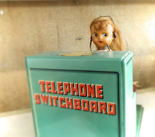 Telefonista, juguete de hojalata Linemar, Tortosantic