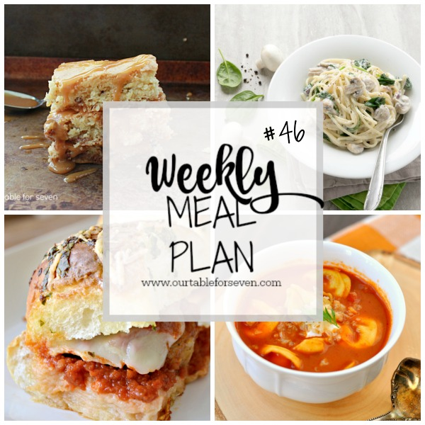 Weekly Meal Plan #46 from Table for Seven