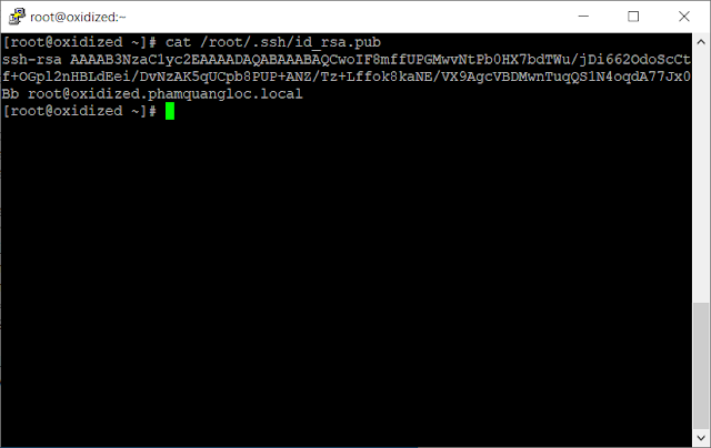 Your public key has been saved in /root/.ssh/id_rsa.pub.
