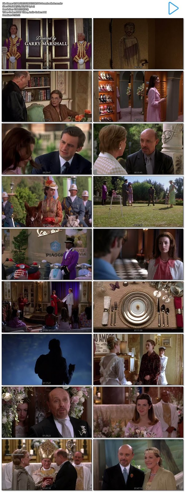 The Princess Diaries 2 Royal Engagement 2004 English 720p HEVC BRRip ESubs