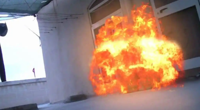 Fire guts Big Brother's house [VIDEO]