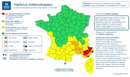 Στην νότια Γαλλία ήχησαν οι σειρήνες για τα ακραία καιρικά φαινόμενα