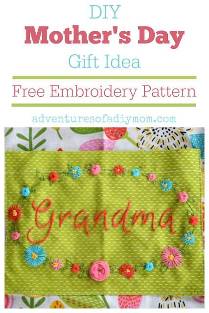 Free Embroidery Pattern - Mother's Day Gift Idea