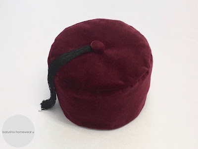 gentleman velvet smoking cap burgundy mens smoker hat tasseled victorian style traditional