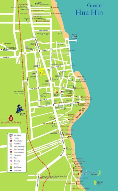 Hua Hin Stadtplan Karte