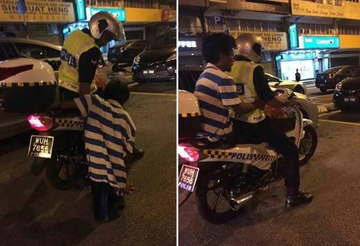 Anggota polis tumpangkan OKU dapat pujian KPN