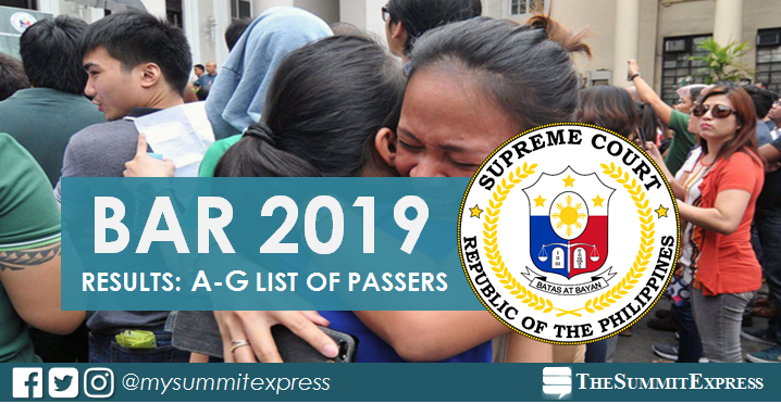 A-G Passers: 2019 Bar Exam Results