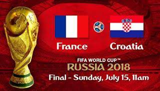 Jadwal Final Piala Dunia 2018 Prancis Vs Kroasia