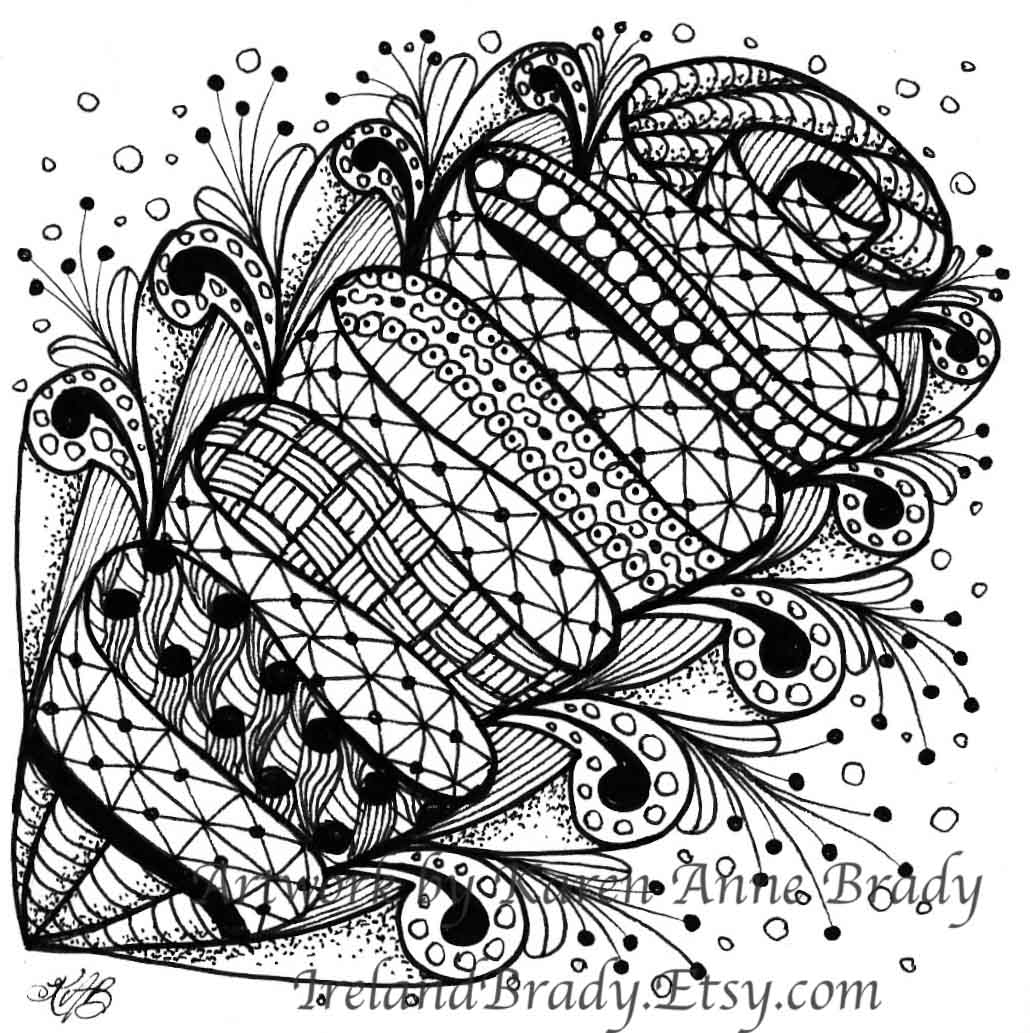 Irelandbrady musings to ponder zentangle tiles for Zentangle tile template