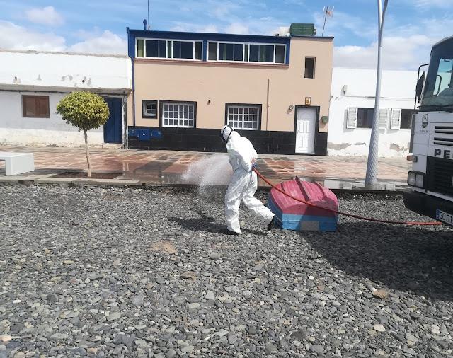 2020%2B04%2B17%2BDesinfeccion%2B1 - Fuerteventura.- Tuineje intensifica la desinfección de espacios públicos