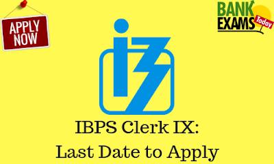 ibps clerk online application last date