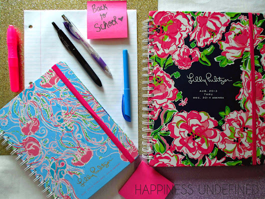 Happiness Undefined: Back to School: Lily Pulitzer Agenda Review