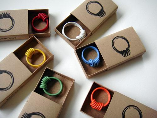 Anillos con cable eléctrico