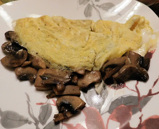 Boursin Cheese and Mushroom Omelet