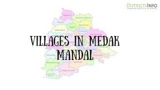 Medak mandal with villages in Medak district