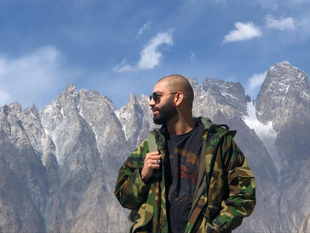 Eman Suleman ‎Enjoying ‎Mountain Views in Gilgit Baltistan