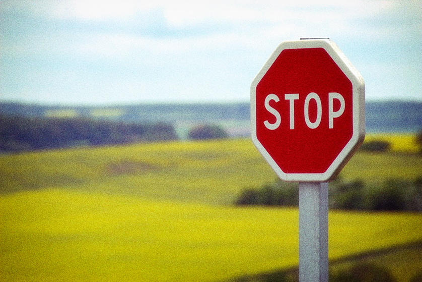 Stop sign, New Zealand.