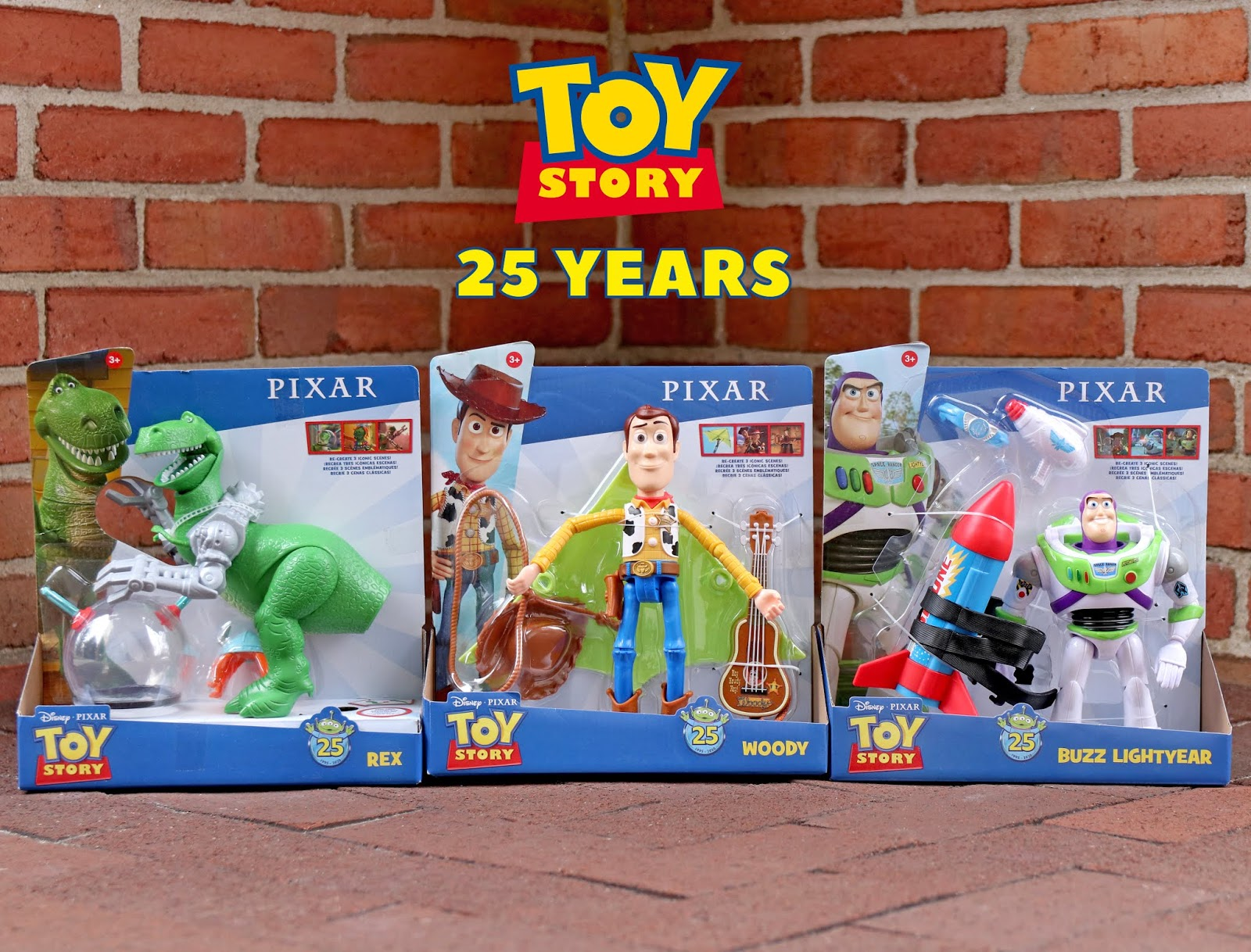 "Toy Story 25th Anniversary ""Character Moments"" Packs by Mattel"