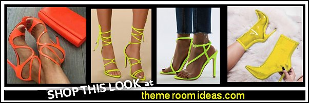 neon shoes Neon Heels neon Open Toe Stiletto Heels neon Sandals neon boots womens shoes