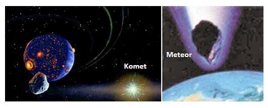 Apa perbedan komet dan meteor? Jelaskan!