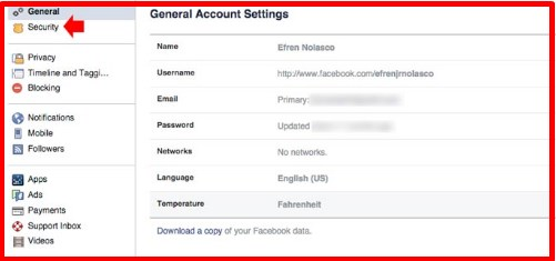 how to know if someone open my facebook account