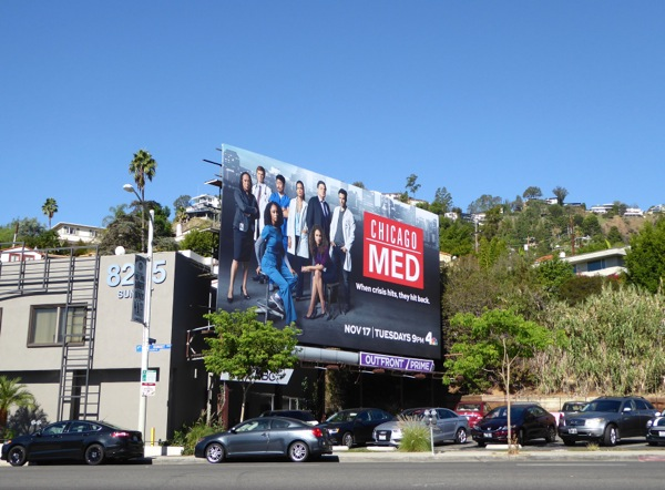 Chicago Med TV series billboard
