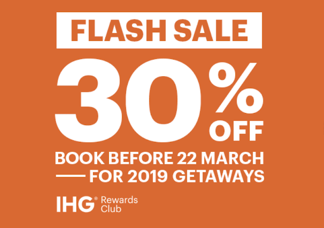 IHG洲際酒店 European Flash Sale歐洲閃促 最高可享37%OFF(3/22前)