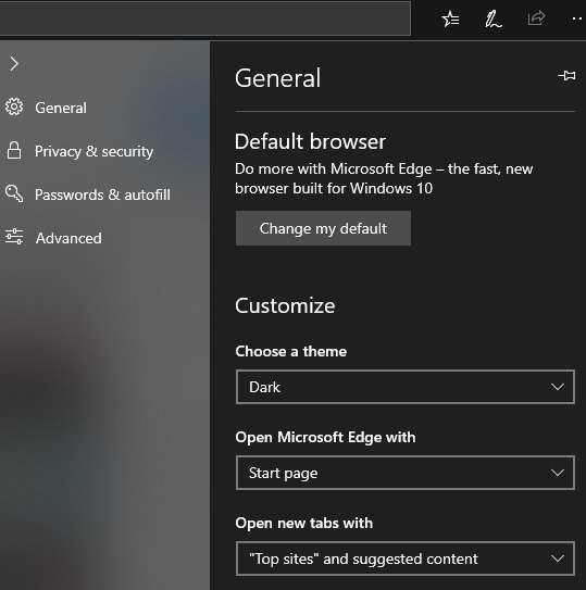 Hasil Dark Mode Microsoft Edge