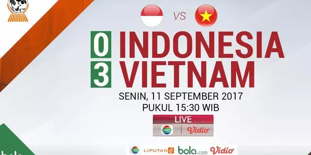 Timnas Indonesia Harus Takluk dari Vietnam 3-0