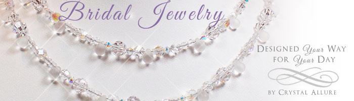 Custom Crystal Bridal Jewelry Pearl By Allure
