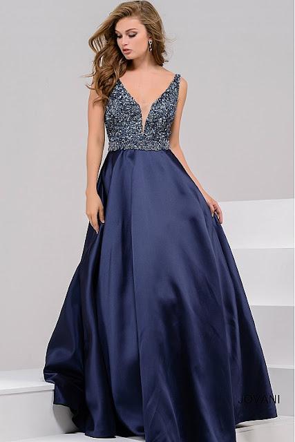 vestido de festa azul marinho bordado