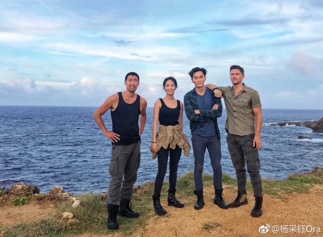 Ora Yang filming Seven Days Li Chen Wang Qianyuan