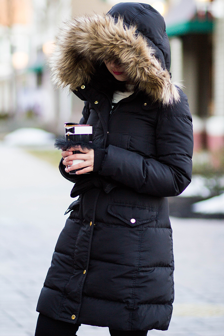 Review: J. Crew Wintress Puffer Coat with Faux-Fur Hood