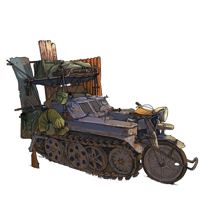 Post Apocalyptic Kettenkrad Bug Out Vehicle - Source Unknown