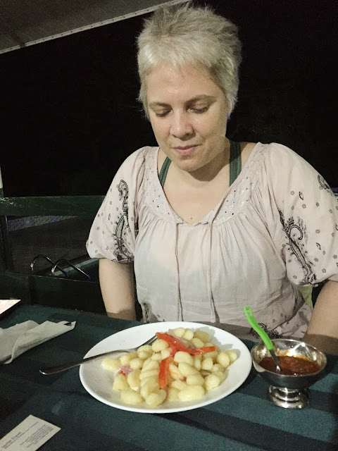 Gnocchi at Mole Motel, Mole National Park, Ghana