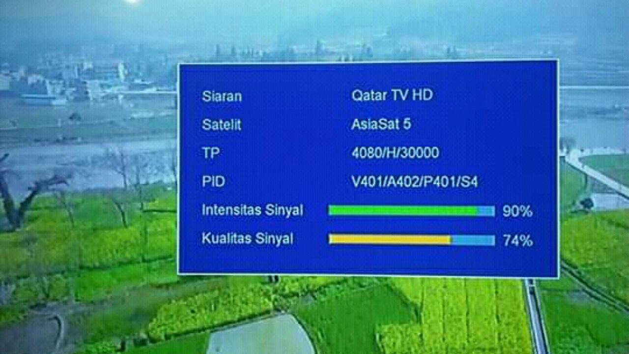 Frekuensi Qatar TV HD Asiasat 5