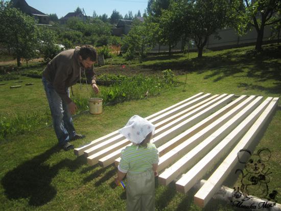 детская площадка своими руками, строительство детской площадки