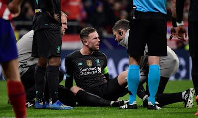 اصابة هندرسون تمنعه من المشاركة مع ليفربول لمدة ثلاثة أسابيع