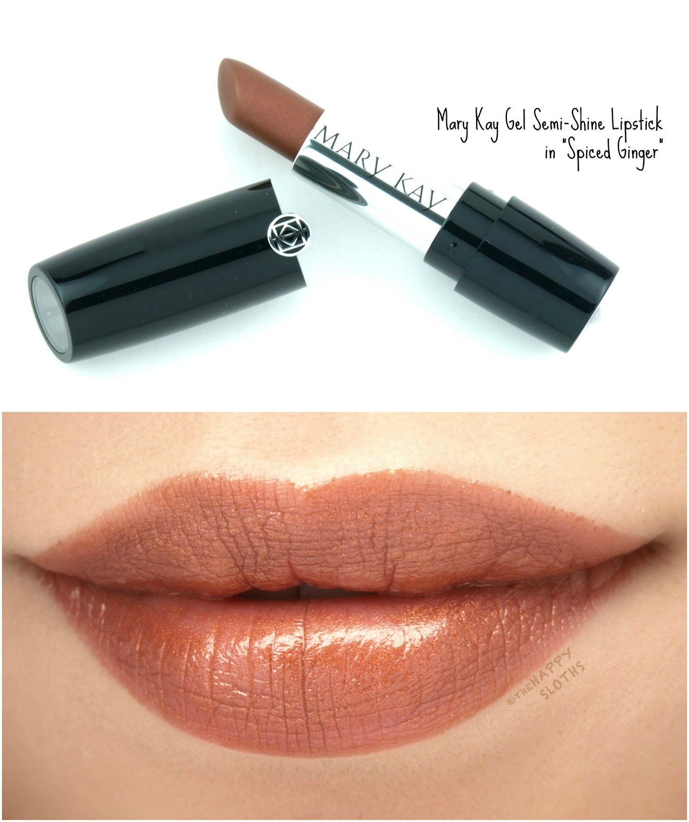 "Mary Kay Gel Semi-Shine Lipstick in ""Spiced Ginger"": Review and Swatches"