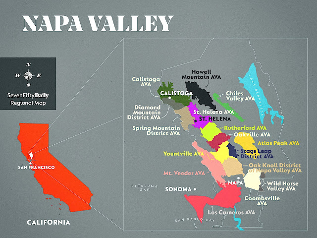 There are 16 separate AVA's in the Napa Valley of California that include Atlas Peak, Oakville, and many more