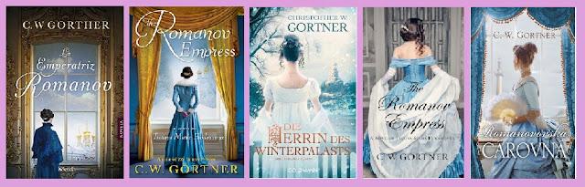 portadas de la novela histórica La emperatriz Romanov, de C. W. Gorther